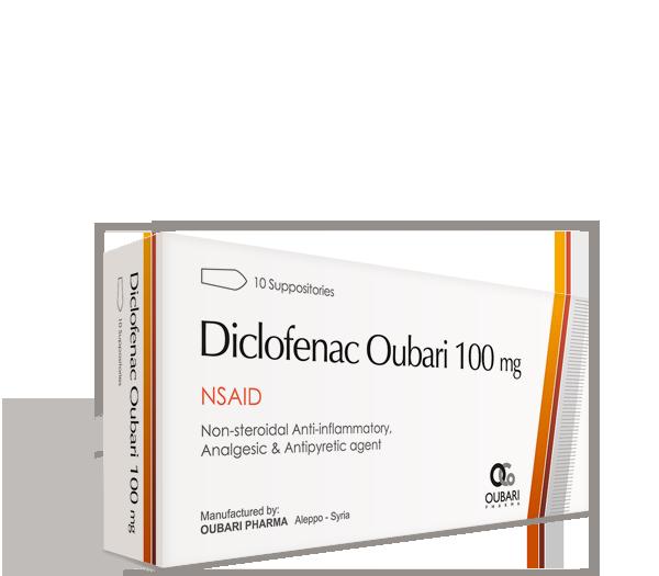 Diclofenac Oubari 100 mg – Suppositories