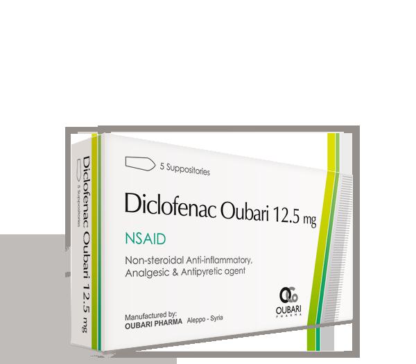 Diclofenac Oubari 12.5 mg – Suppositories
