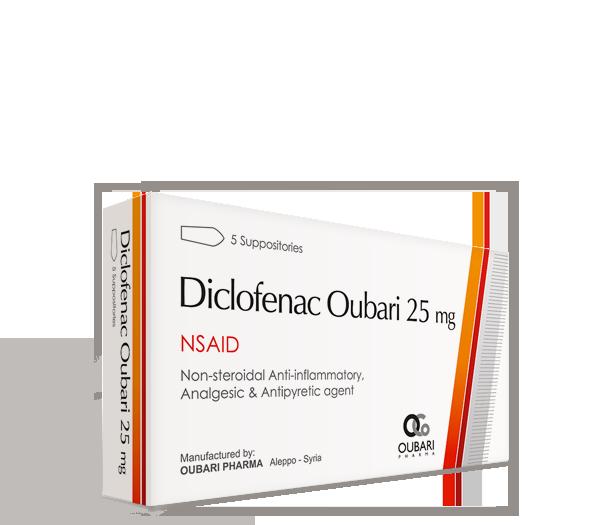 Diclofenac Oubari 25 mg – Suppositories