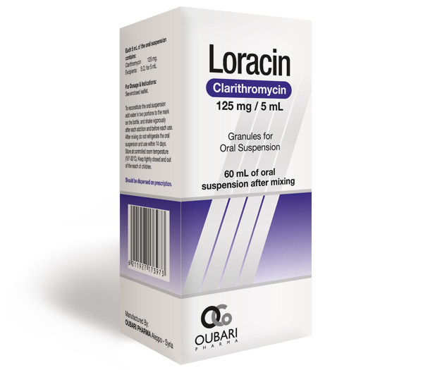 Loracin 125 mg / 5 mL – Oral Suspension